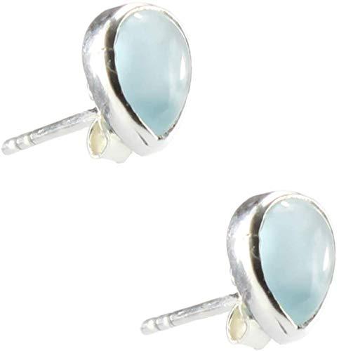 budawi® - Aquamarin Ohrstecker Tropfen Ohrringe 925er Silberohrstecker, Aquamarinschmuck