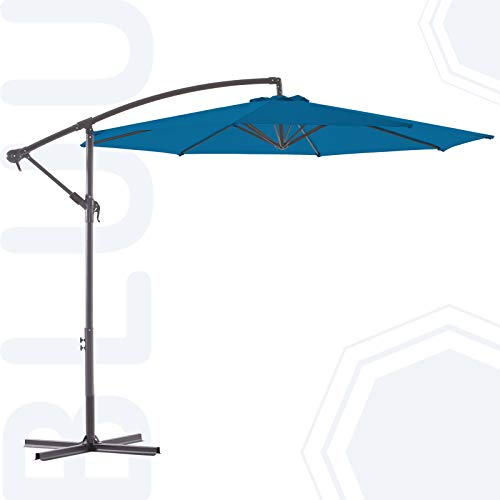 BLUU BANYAN 10 FT Patio Offset Umbrella Outdoor...
