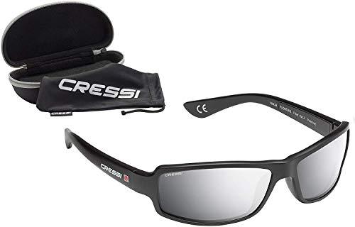 Cressi Ninja Floating - Gafas Flotantes Polarizadas para Deportes con una protección 100% UV Adultos Unisex, Negro/Lentes Gris Espejadas