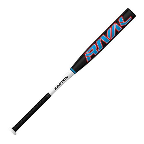 EASTON RIVAL Power Loaded Slowpitch Softball Bat, 34/27, 12 Barrel, 1PC Aluminum, SP21RV, Dual Stamp