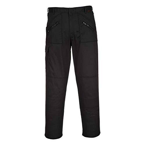 Werkkleding Action Broek Kniebeschermers Zakken Meerdere Zip Zakken Broek 30 Short Zwart