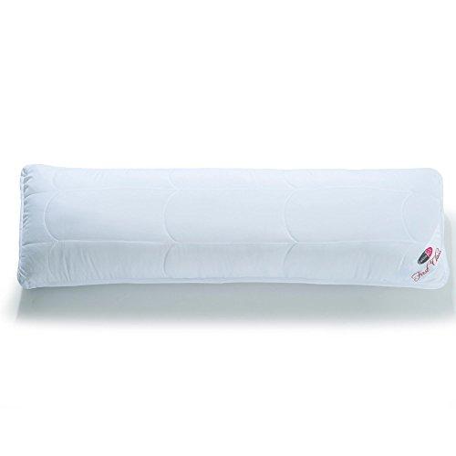 CelinaTex First Class Seitenschläferkissen 40 x 200 cm weiß Mikrofaser Stillkissen Schwangerschaftskissen Kopfkissen
