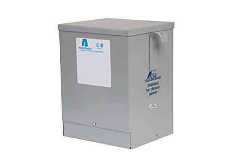 Acme Electric T279744S Dry Type Distribution Transformer, Single Phase, 120V/208V/240V/277V Primary Volts, 120V/240V Secondary Volts, 60 Hz, 5 kVA