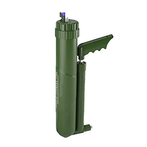 Jilijia Tragbarer Außenwasserfilter Wanderer Wasserfilter Miniwell Schwerkraft Wasserfilter Stroh Mini Wasserfiltersystem Super hochpräzises Überlebensgerät für die Wasseraufbereitung