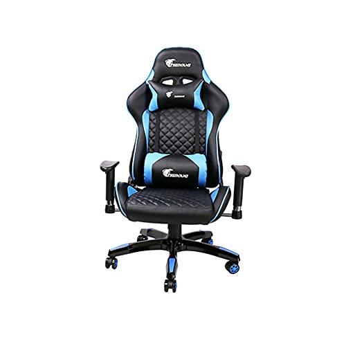 Casa Oficina Silla de computadora Espalda Alta Reclinable Chair Giratoria Regulable en Altura Respirable Silla Gaming Ergonómica con Soporte Lumbar extraíbleB