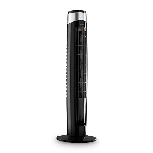 Klarstein Storm Tower - Ventilator, 55W, Luftdurchsatz: 252 m³/h max, 3 Windarten, 6 Windgeschwindigkeiten, LED-Display, Timer-Funktion, Gehäuse mit Tragemulde, Touch-Bedienfeld, schwarz