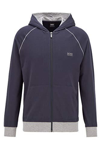 BOSS Herren Mix&Match Jacket H Kapuzenjacke aus Stretch-Baumwolle mit kontrastfarbenen Paspeln