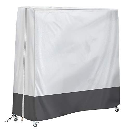 HALOKETI Funda para Mesa de Ping-Pong,Oxford,Impermeable,Anti-UV,contra el Polvo,Protección Integral,Mesa de Tenis de Mesa (Gris Plateado