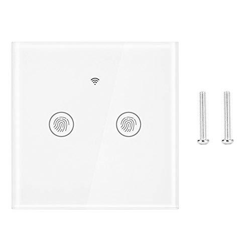 Jadpes Interruptor táctil de Pared, LED WiFi Aplicación Inteligente para teléfono móvil Control Remoto Interruptor Inteligente Inicio Aplicación para teléfono móvil Interruptor de Control Remoto(#2)