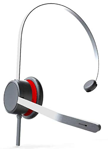 AVAYA Headset L139 monaural Headset in gebürsteter Edelstahloptik mit unidirektionalem Mikrofon