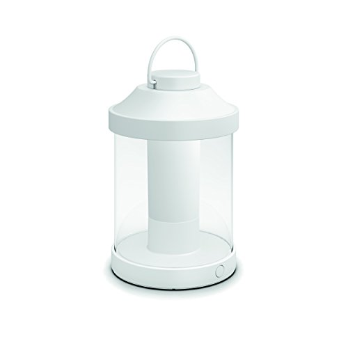 Philips Mygarden Abelia Farol LED Portátil blanco, luz regulable y recargable mediante USB, iluminación exterior