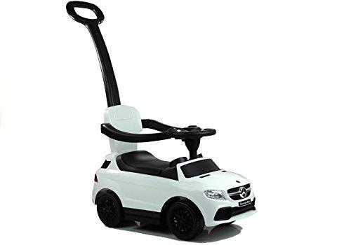 Lean Toys - Véhicule porteur avec barre coulissante - Blanc