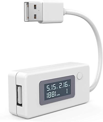 SLL Voltaje USB/AMPS Medidor de energía Multímetro, Velocidad de Prueba de Cargadores, Cables, Capacidad de los Bancos de energía Multifunción