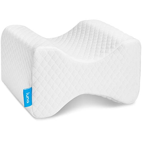 Luna Orthopedic Knee Pillow for Sciatica Relief, Back Pain, Leg Pain, Pregnancy, Hip and Joint Pain | Memory Foam Wedge Contour for Side, Back & Side...