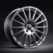 Lot de 8 autocollants OZ Racing Wheels Super Turismo, centre de moyeu en alliage