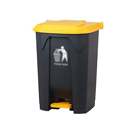 LZQBD Latas de Basura, Contenedores de Residuos de Negocios, Papel de Reciclaje de Basura de Plástico de Gran Capacidad Fábrica de Patio Escolar Al Aire Libre 87 / 68L Pedal Basura Papelera con Tapa,