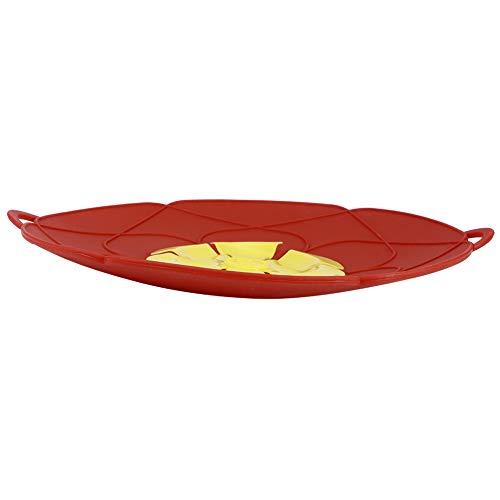Tappo antigoccia, coperchio antipolvere anti-trabocco per pentola, silicone alimentare lavabile in lavastoviglie utensili da cucina per la casa(Red-28cm)