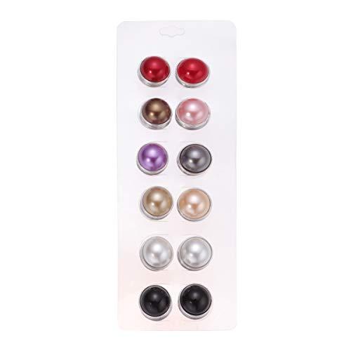 SUPVOX broche magnético pin perla bufanda broche bufanda magnética broche botones a presión pin para decoración 12 piezas (plata)