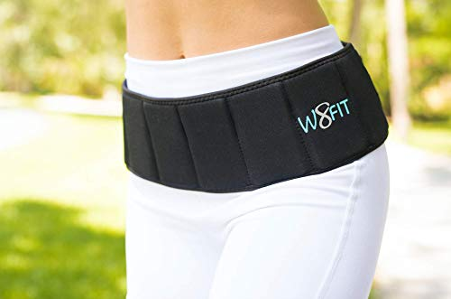 """W8FIT Adjustable Weighted Walking and Exercise Belt 9 LB Large (38"""" - 44"""")"""