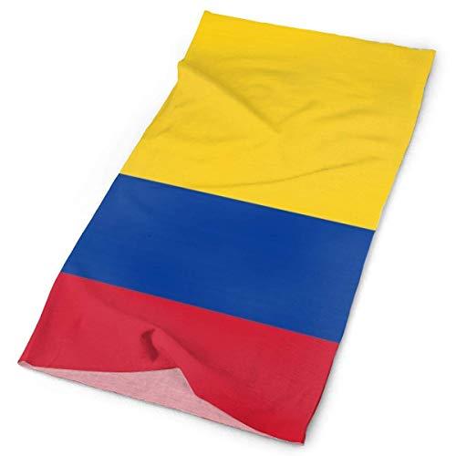 ECNM56B Bandanas sin costuras Bandera de Colombia con águila calva Bandanas deportivas al aire libre Máscara de paseo Bicicleta Bufanda mágica Diadema de ciclismo