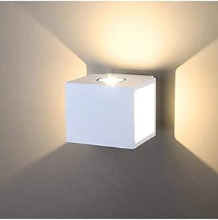 KOSILUM - Applique murale carrée LED - Blanc Brooklyn - EN SOLDES ! - Lumière Blanc Chaud Eclairage Salon Chambre Cuisine ...