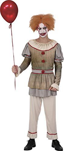 Ciao-Costume Horror Creepy Clown uomo, taglia unica, Multicolore, 16071