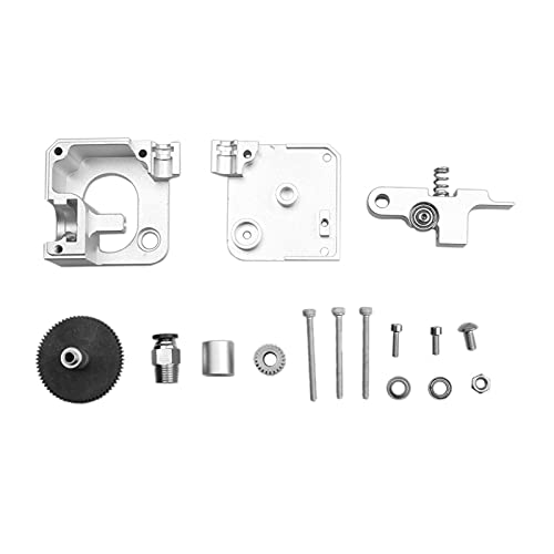 Huhu Metal E3D Titan Aero Extruser Fit para Prusa I3 MK2 Impresora 3D 1.75mm Distancia Corta y V6 Extrusora de Bowden Remote (Color : Silver Extruder Sets)