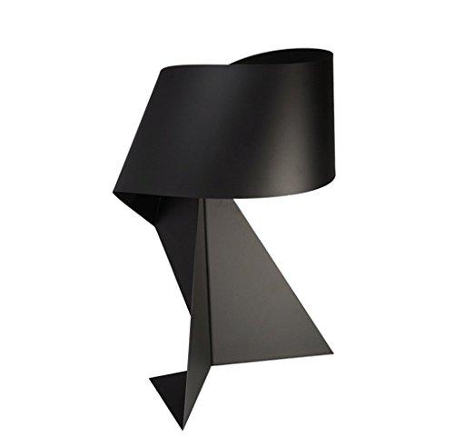 Nordic moderne minimalistische kreative Tischlampe schwarz Origami dekorative Lampe Persönlichkeit Schmiedeeisen Schlafzimmer Nacht Studie Wohnzimmer Lampe