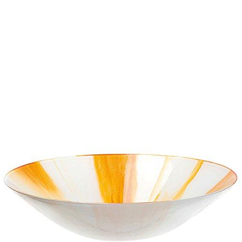 LEONARDO - Schale, Schüssel, Obstschale, Dekoschale - Arte - orange - Ø: 33 cm - Glas - Handgefertigt