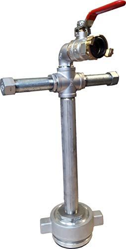 Standrohr Unterflurhydrant Mini 50cm Fuß DN 80 absperrbar mit Geka, Rückflussverhinderer