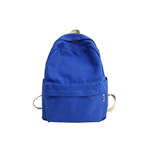 PJY Vrouwen Canvas Rugzak Vrouw Grote capaciteit reistas Student School Bag voor Tiener Meisjes Schoudertassen Dames, blauw, 30cm15cm37cm
