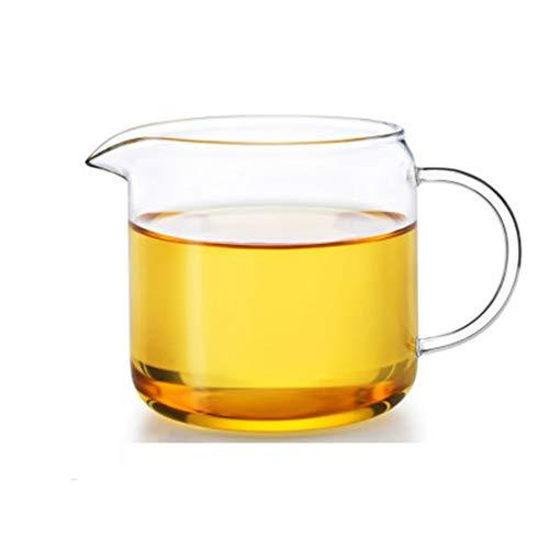 Grote dubbele muur glazen mok met handvat, koffie vervanging Beaker, hittebestendige bril, gebruik Borosilicate glas, transparant, houd dranken warm 13cm*8.8cm*8.8cm