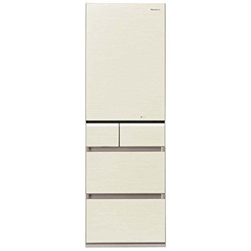 パナソニック 426L 5ドア冷蔵庫(シャンパンゴールド)【右開き】Panasonic エコナビ NR-E431GV-N