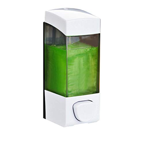 Mural Bouteille Liquide Désinfectant détergent Shampooing Douche Gel Liquide Bouteille de Liquide Distributeur de ménage (Color : White, Taille : 16.5 * 6cm)