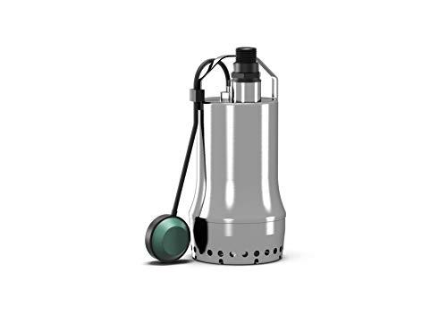 Wilo-Drain TSW 32/8-A, Schmutzwasser Tauchpumpe aus Edelstahl zur Förderung von leicht verschmutztem Wasser aus Kellern, Behältern, Teichen, Brunnen, Kabellänge 10m, max. 11600l/h, max. 0,8 bar, 300W