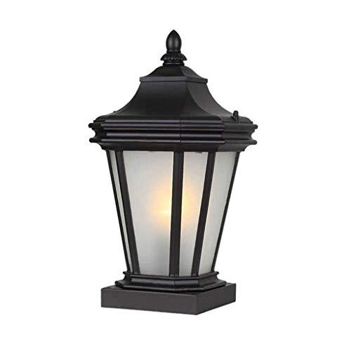 YWSZJ Luces de jardín al Aire Libre de columnas, Villa Patio escuadra de la Mesa de la lámpara a Prueba de Herrumbre Metal de Aluminio de la iluminación del Paisaje