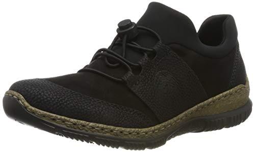 Rieker Damen N32X8 Sneaker, Schwarz (Schwarz/Schwarz/Schwarz 00), 39 EU