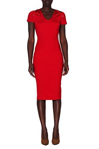 Michael Kors Kleid Longuette, elastisch, ungefüttert, Rot S