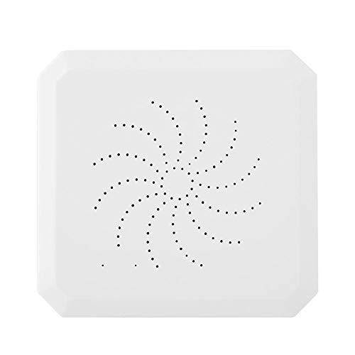 ASHATA Draadloos Smart Home Gateway-alarmsysteem met hot-deurmagneettemperatuursensor infrarooddetector spraakgestuurde ring voor sigbee sensing Kit, EU.