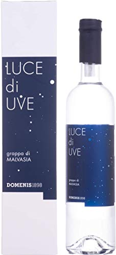 Domenis 1898 LUCE di UVE grappa di MALVASIA 38% - 500 ml in Giftbox