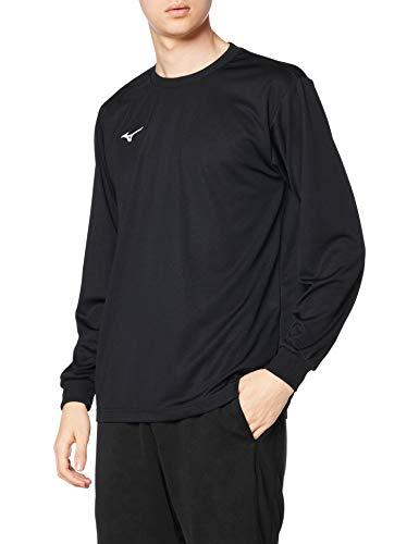 [ミズノ] トレーニングウェア 長袖 Tシャツ ナビドライ 吸汗速乾 インナー 肌着 【Amazon限定モデルあり】 20年新モデル ブラック×ホワイト M