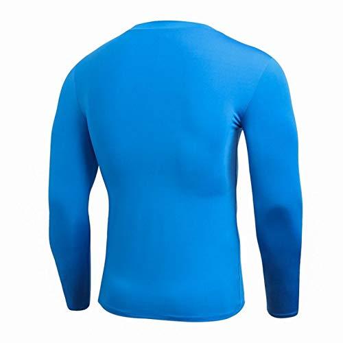 Rápido Rápido Seco Sudor Negro Rojo Compresión Hombres Mangas Largas Masculina Camisa Casual Tops Hombres Camisetas Ejercicio 1026 (Color : Large, Size : Medium)