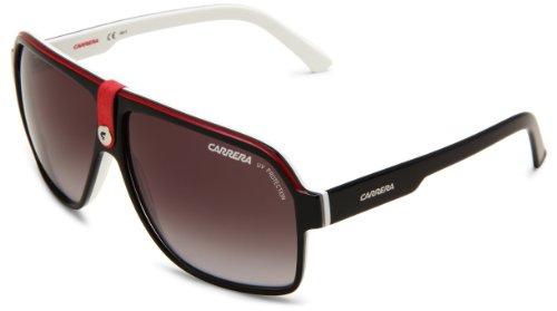 Carrera 33/S Rectangular Sunglasses, Black Crystal White/Gray Gradient, 62mm, 11mm