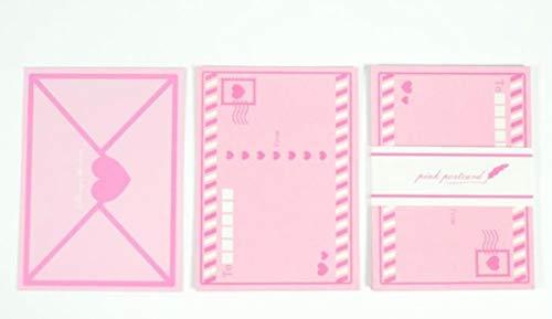 Miner 8 stuks pack Sweet Pink Heart Love Paper Wenskaarten Bruiloft Verjaardag Moederdag Kaart Bericht Ansichtkaarten Briefpapier Geschenken, 1