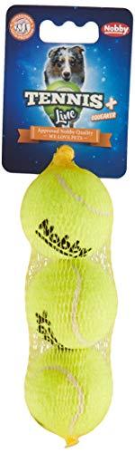 Nobby Tennisball mit Squeaker S 5,0 cm; 3er Netz