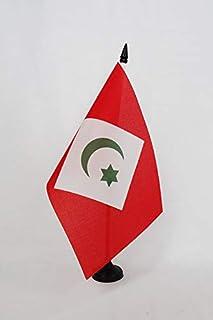 AZ FLAG Bandera de Mesa del RIF EN Marruecos 21x14cm - BANDERINA de DESPACHO del Riff 14 x 21 cm