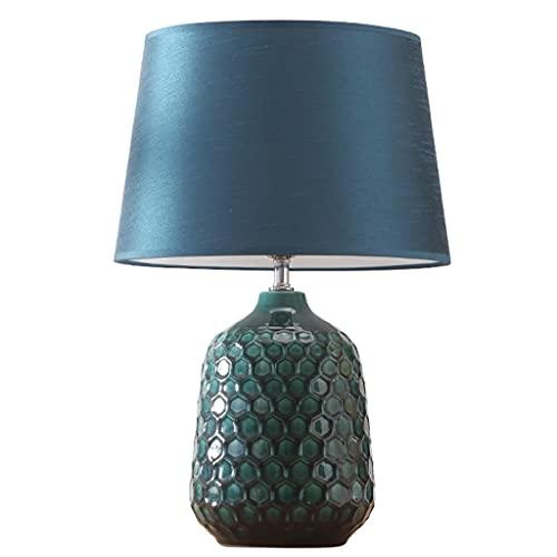 Lámpara de Mesa Cerámica creativa Lámpara de mesa de noche Moderna Minimalista dormitorio Mesa de noche Lámpara de estudio Sala de estudio Sala de estar Lámparas decorativas personalizadas Lámpara de