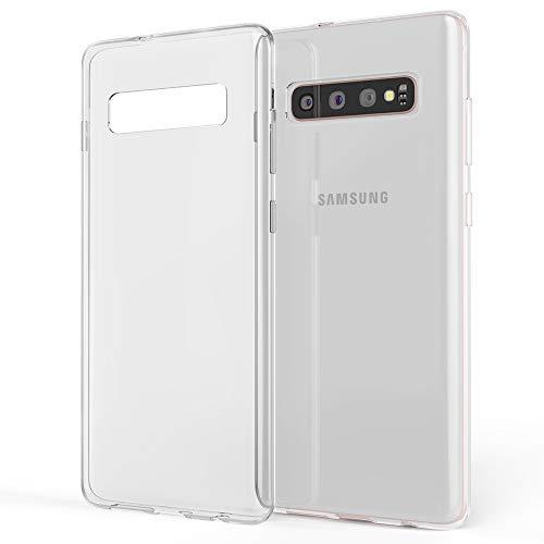NALIA Hülle kompatibel mit Samsung Galaxy S10 Plus, Soft Silikon Handyhülle Hülle Cover Crystal Clear, Dünne Durchsichtig Etui Handy-Tasche Schutzhülle, Ultra-Slim Transparent Phone Backcover Bumper