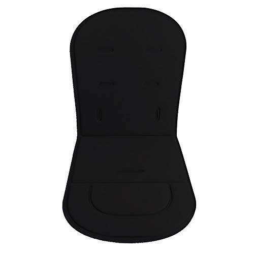 Cojín de cochecito de bebé Mat Paseo Cojín Cojín de asiento de coche Protector universal transpirable suave (negro)