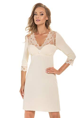 Selente Sweet Dreams Elegante Camicia da Notte o Vestaglia Donna Taglie Forti in...